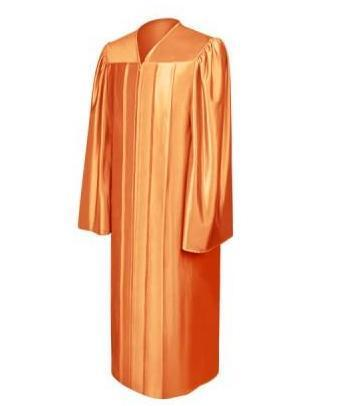 Shiny Orange Choir Robe - Churchings