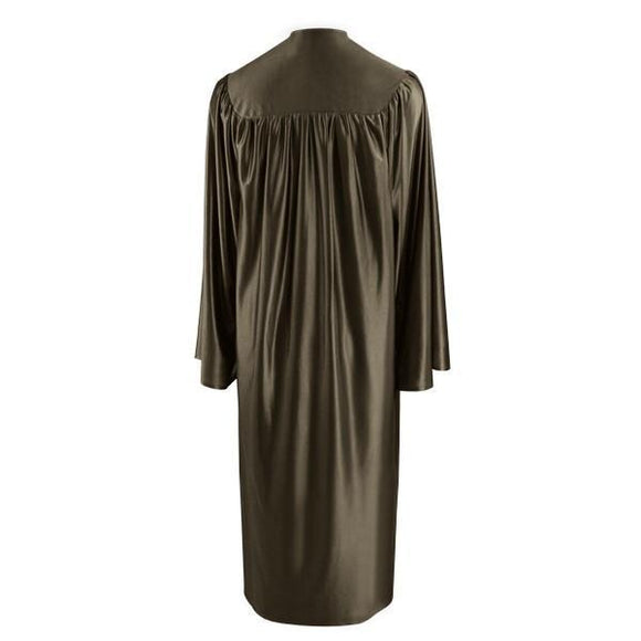 Shiny Brown Choir Robe - Churchings