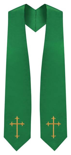 Green Traditional Choir Stole - Church Choir Robes - ChoirBuy