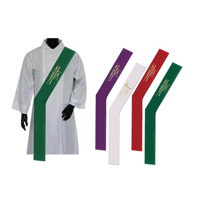 Green Deacon Stole - Churchings