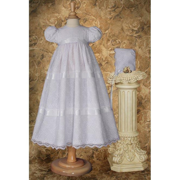 Morgan Poly Baptism Cotton Gown - Churchings