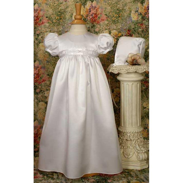 Jacqueline Satin Baptism Gown - Churchings