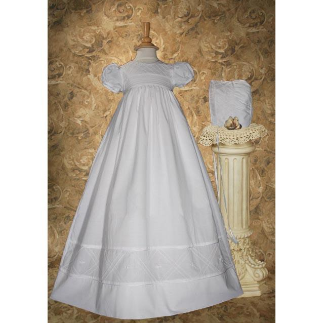 Estrella Cotton Baptism Gown - Churchings