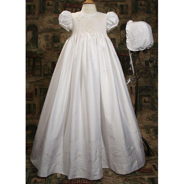 Philippa Dupioni Baptism Gown - Churchings