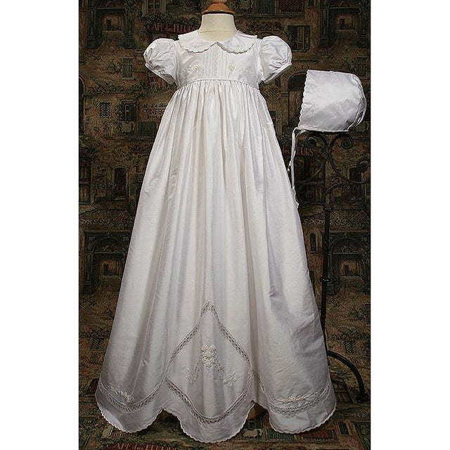 Rosemary Dupioni Baptism Gown - Churchings