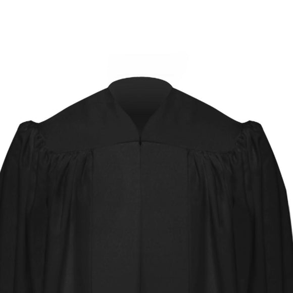 Premium Black Baptismal Robe - Churchings