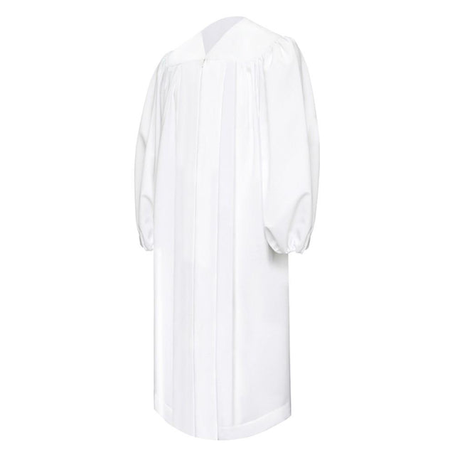 Premium White Baptismal Robe - Churchings