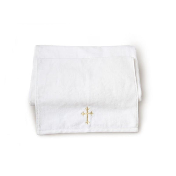 Small Baptism Towel With Cross