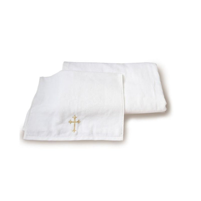 Large Baptism Towel With Cross