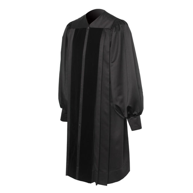 Black Clergy Robe - Churchings