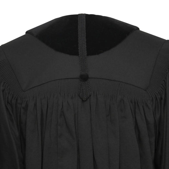 Front Velvet Geneva Clergy Robe - Clergy, Pastor & Minister Robes - Churchings