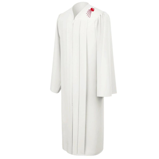 White Confirmation Robe With Dove - Churchings