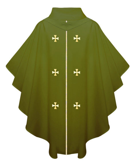 Olive Green Chasuble - Churchings