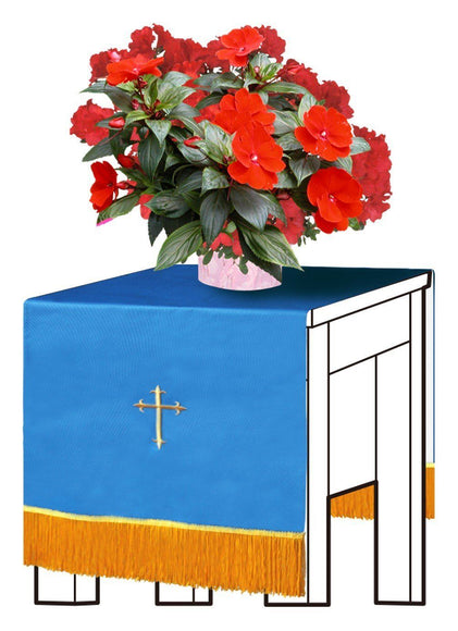 Blue/White Flower Stand Cover - Churchings
