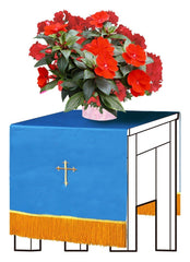 Blue/White Flower Stand Cover