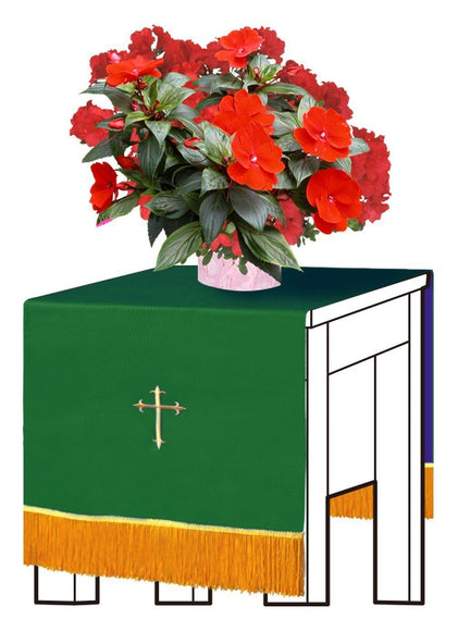 Hunter/Purple Flower Stand Cover - Churchings