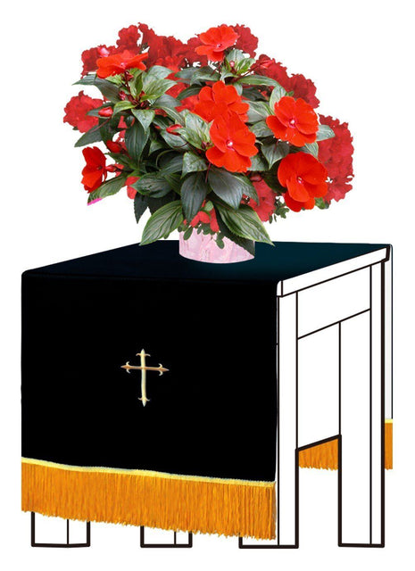 Black/White Flower Stand Cover - Churchings