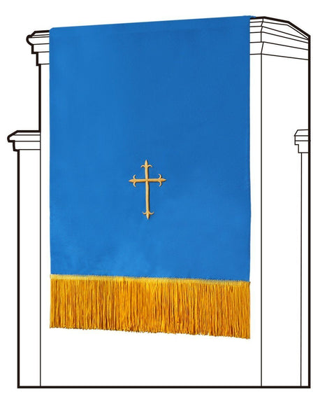 Blue/White Pulpit Scarf - Churchings