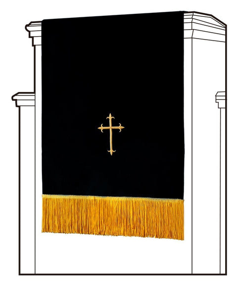 Black/White Pulpit Scarf