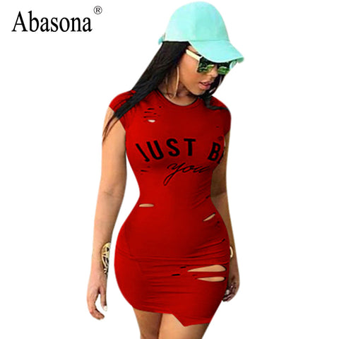 5c02e1b0ea Abasona Women summer casual hollow out slim bodycon dresses - Classy by  Cookie