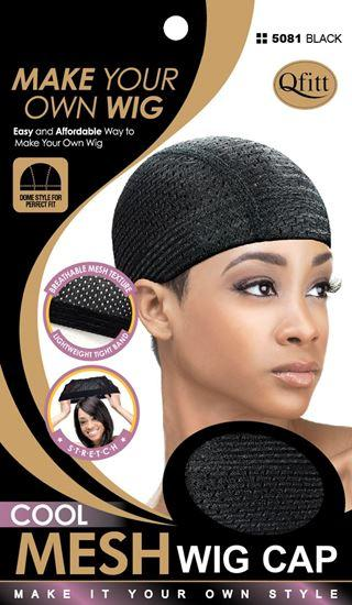 #5081 Cool Mesh Wig Cap / Black