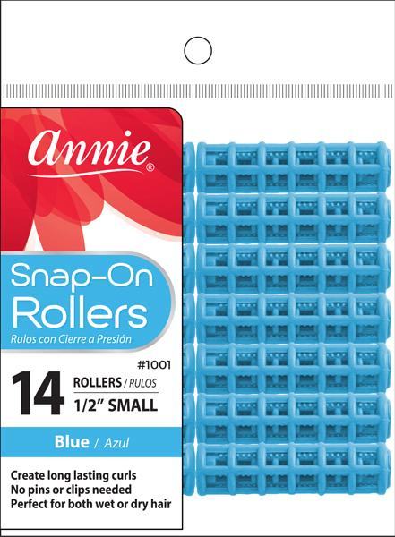 #1001 Annie Snap-On Rollers Small / Blue 14Pc