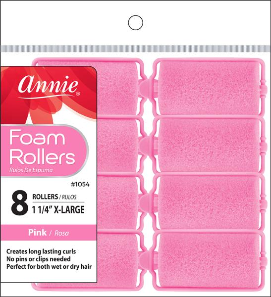 #1054 Annie Foam Rollers X-Large / Pink 8Pc