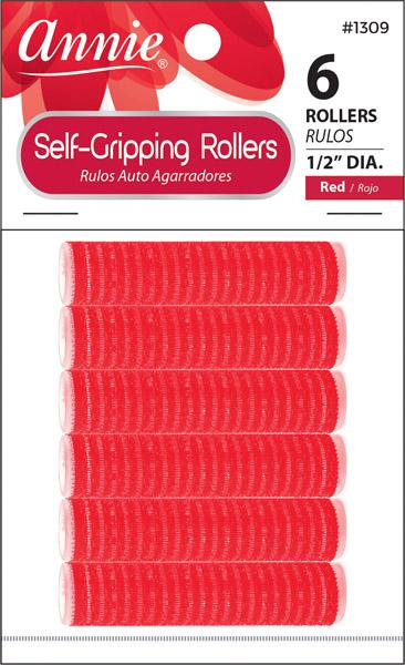 #1309 Annie Self-Gripping Rollers / Red