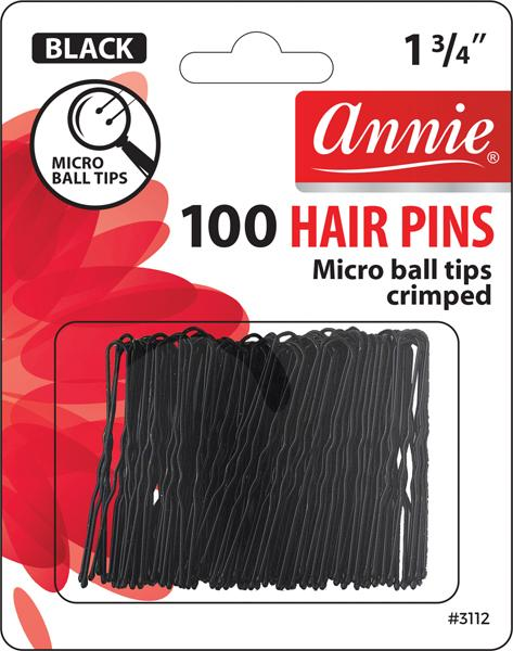 #3112 Annie Hair Pins / Black 100Pc