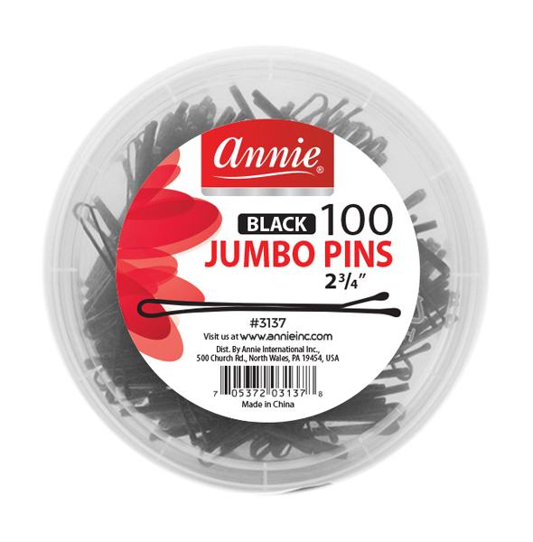 #3137 Annie Jumbo Pins / Black 100Pc
