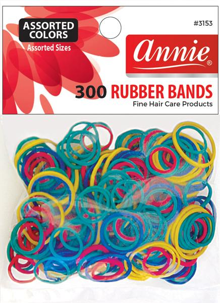 #3153 Annie Rubber Bands / Assort 300Pc