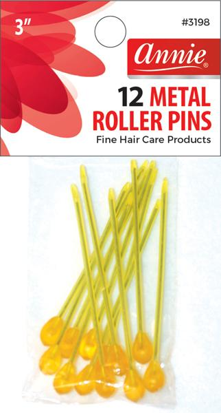 #3198 Annie Metal Roller Pin 12Pc