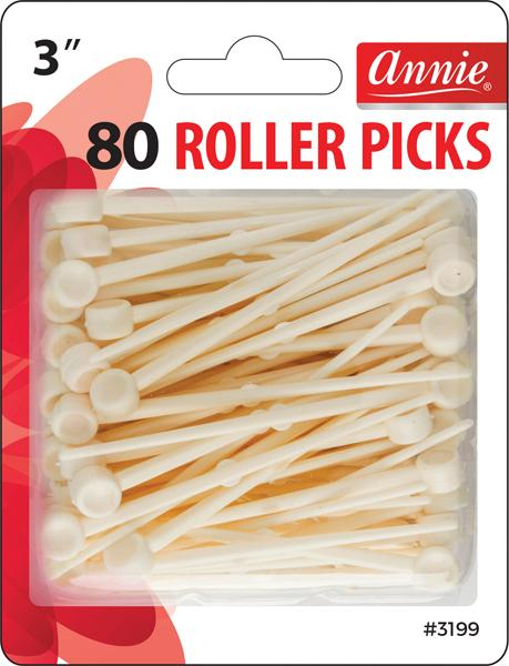 #3199 Annie Plastic Roller Picks 80Pc