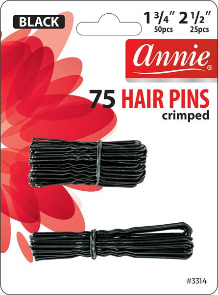 #3314 Annie Hair Pins / Black 75Pc