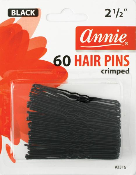 #3316 Annie Hair Pins / Black 60Pc