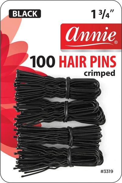 #3319 Annie Hair Pins / Black 100Pc