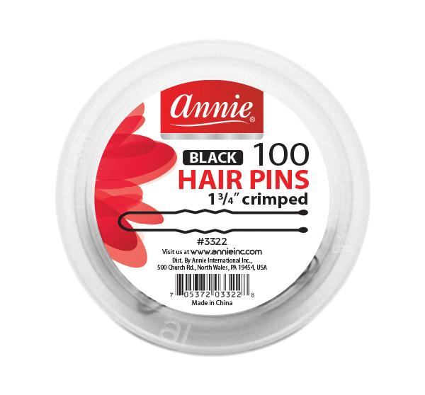 #3322 Annie Hair Pins / Black 100Pc