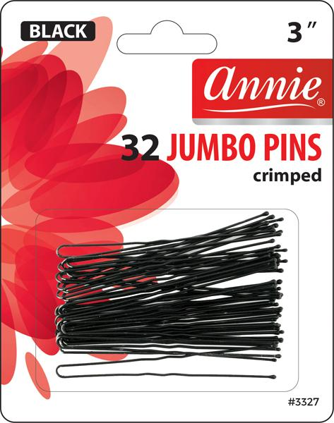 #3327 Annie Jumbo Hair Pins / Black 32Pc