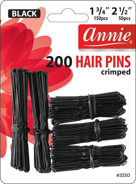 #3330 Annie Hair Pins / Black 200Pc