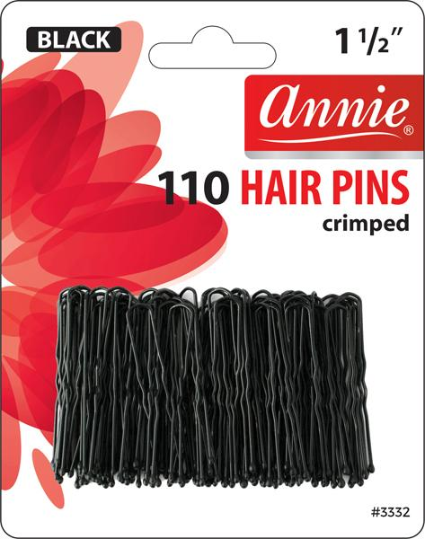 #3332 Annie Hair Pins / Black 110Pc