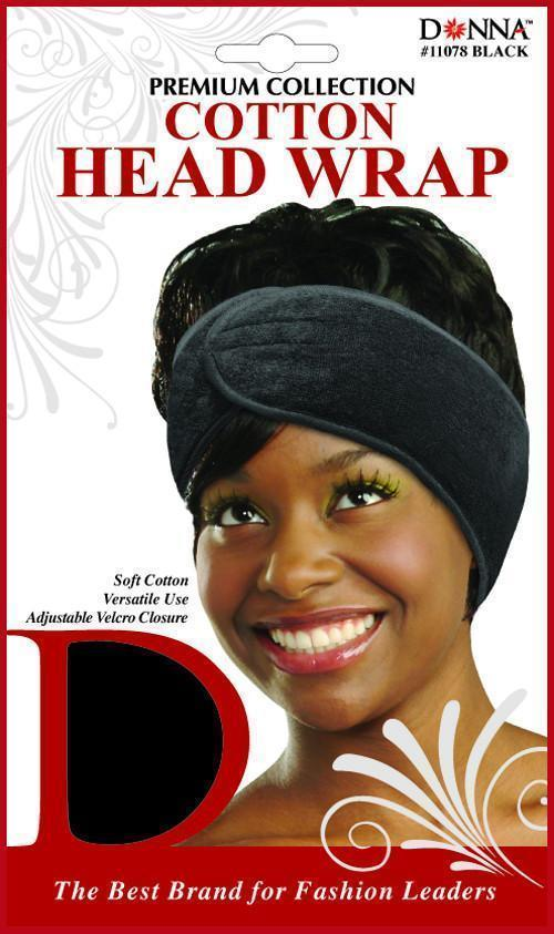 #11078 Cotton Head Wrap / Black (12PC)