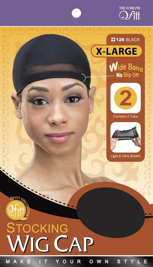 #126 X-Large Wig Cap / Black (Dz)