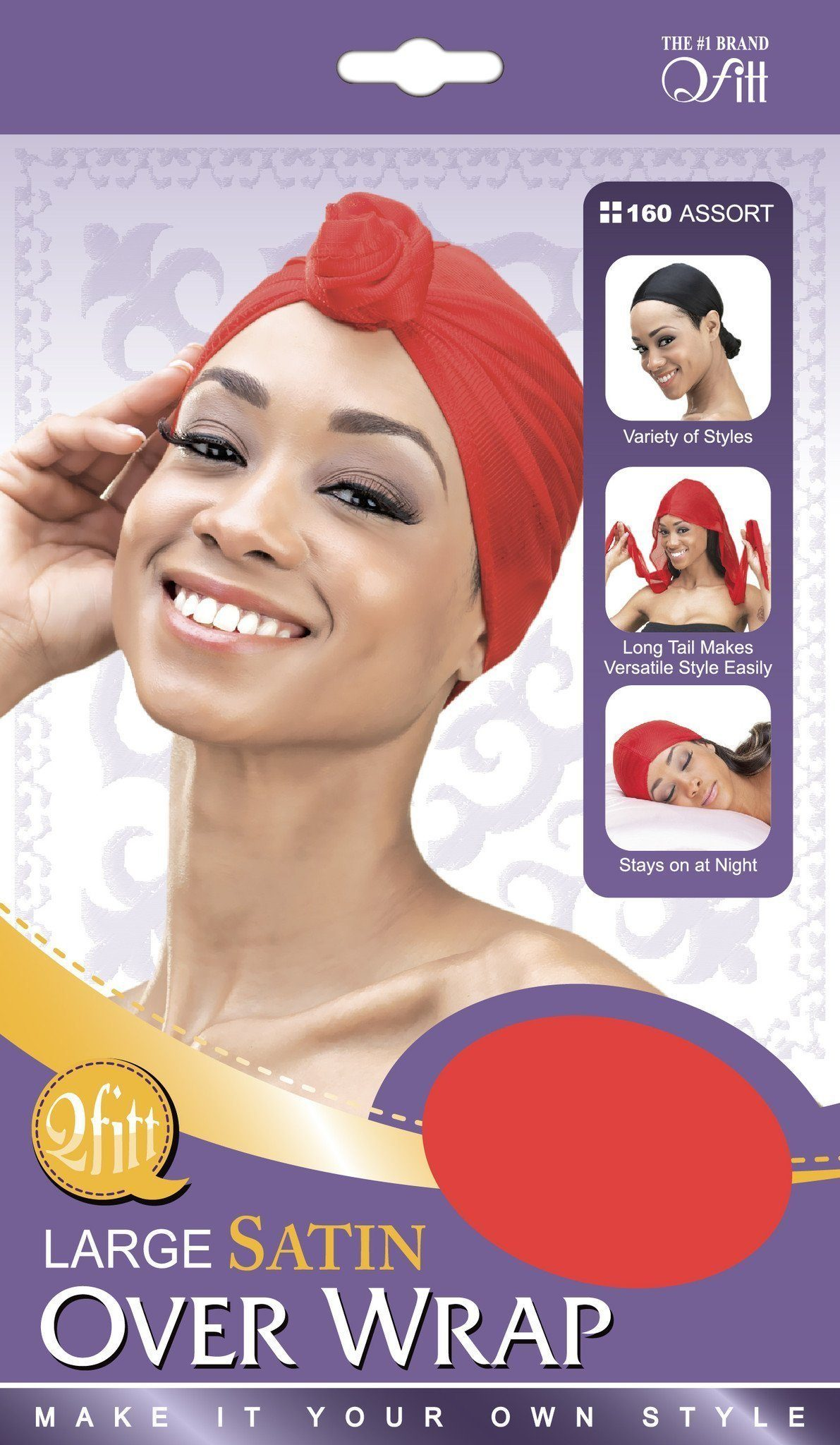 #160 Large Satin Over Wrap / Assort (12Pk)