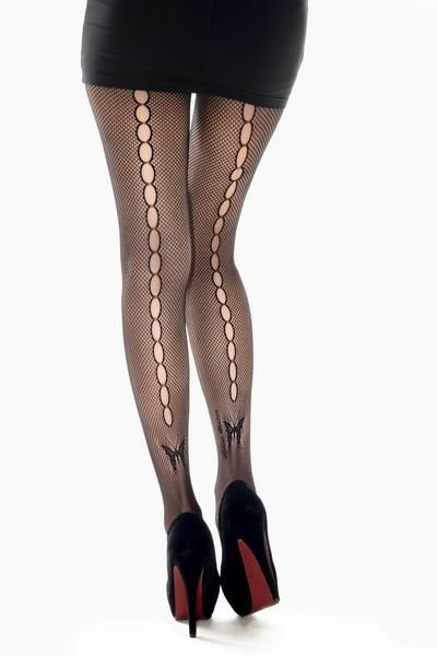 Yelete Lady's Keyhole Butterfly Dreams Fishnet Pantyhose #168YD100 (PC)