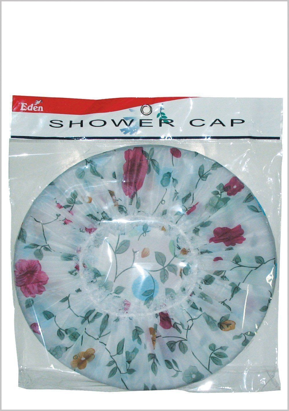 #1771 Eden 3pc Floral Shower Cap (12Pk)