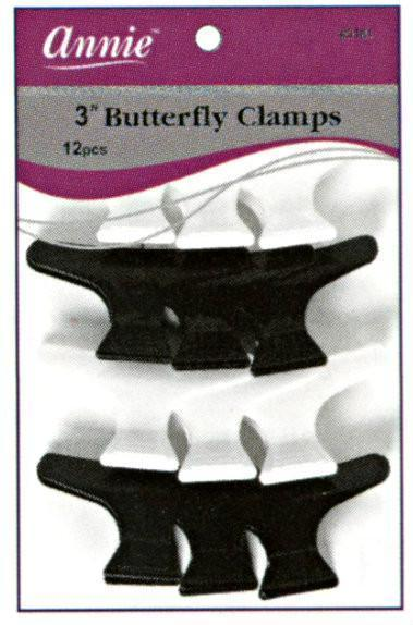#3181 Annie Butterfly Clips 12Pc