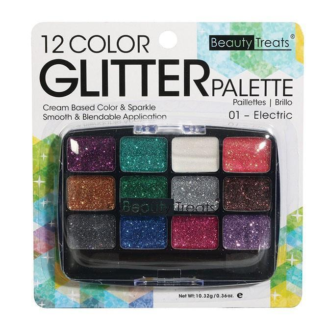Beauty Treats 12 Color Glitter Palette