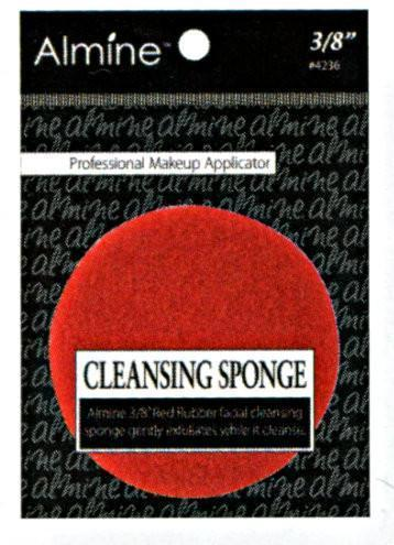 "#4236 Annie Cleansing Sponge 3/8"" / Red"