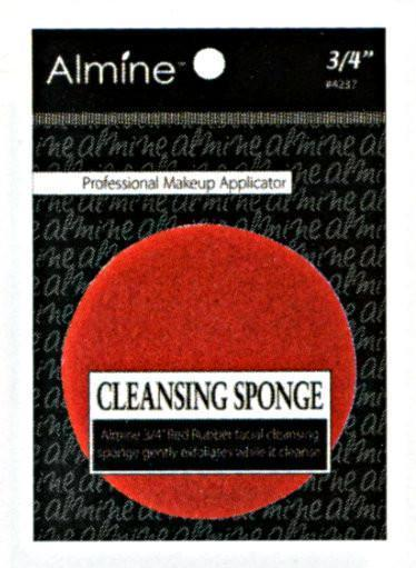 "#4237 Annie Cleansing Sponge 3/4"" / Red"