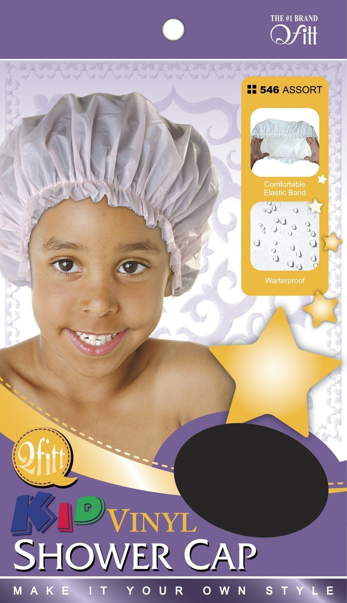 #546 Kid Vinyl Shower Cap / Assort (12Pk)